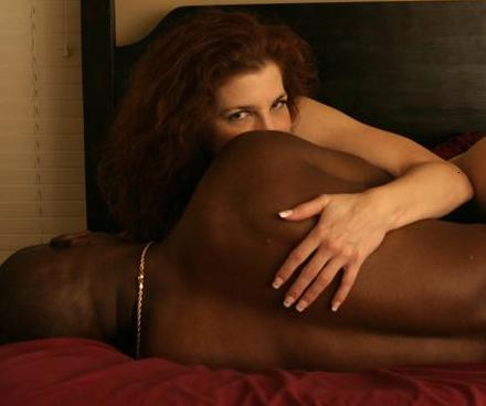 White woman black men having sex